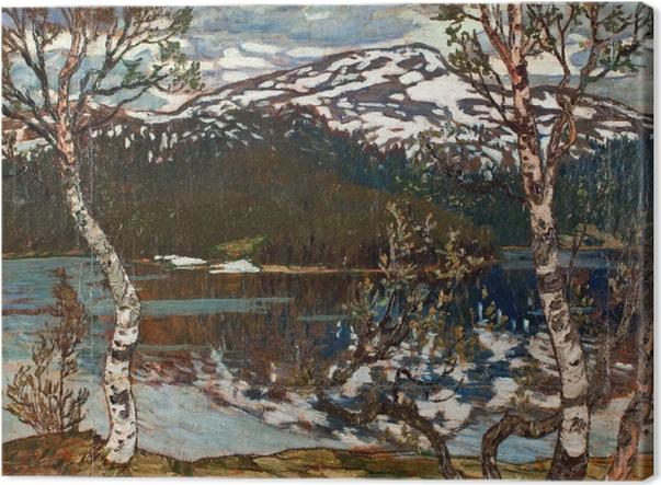 Obraz na płótnie Helmer Osslund - Wiosenny dzień nad jezioren Rensjön w pobliżu Åre - Reproductions
