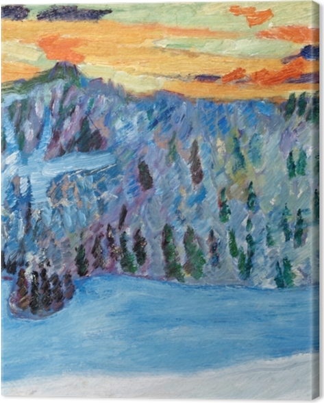 Obraz na płótnie Helmer Osslund - Zimowy pejzaż w Näsåker - Reproductions