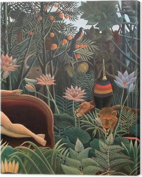 Obraz na płótnie Henri Rousseau - Artysta malujący swoją żonę - Reprodukcje