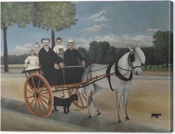 Obraz na płótnie Henri Rousseau - Bryczka ojca Junier - Reprodukcje
