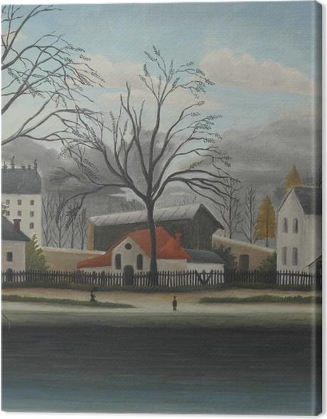 Obraz na płótnie Henri Rousseau - Na przedmieściach - Reprodukcje