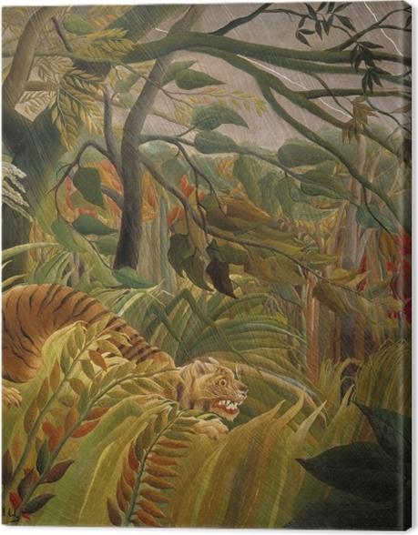 Obraz na płótnie Henri Rousseau - Tygrys podczas burzy tropikalnej (zaskoczony) - Reprodukcje