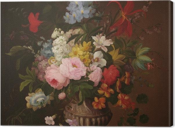 Obraz na płótnie Henryka Beyer - Kwiaty w wazonie - Reproductions