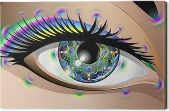 Obraz na płótnie Hypnotic Psychedelic Mandala Eye-Occhio Mandala-Vector