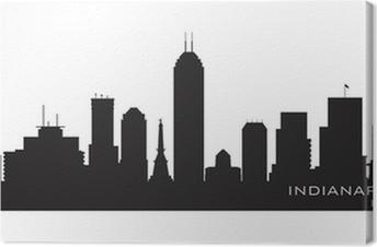 Obraz na płótnie Indianapolis, Indiana skyline. szczegółowe sylwetka wektor