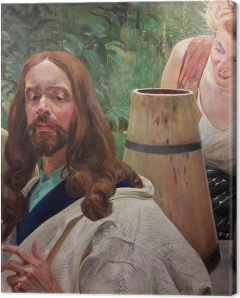 Obraz na płótnie Jacek Malczewski - Chrystus i Samarytanka - Reproductions