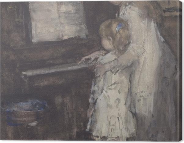 Obraz na płótnie Jacob Maris - Córki Jacoba Maris przy pianinie - Reproductions