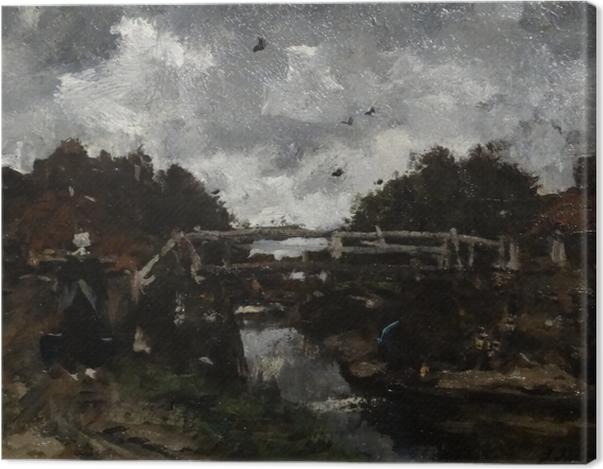 Obraz na płótnie Jacob Maris - Drewniany most - Reproductions