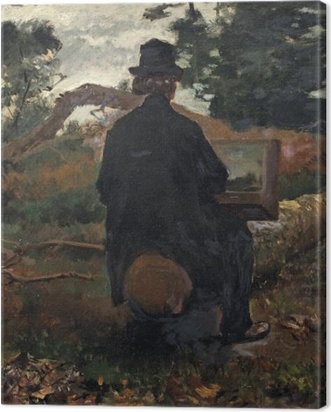 Obraz na płótnie Jacob Maris - Malarz Frederik Hendrik Kaemmerer przy pracy w Oosterbeek - Reproductions