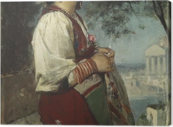 Obraz na płótnie Jacob Maris - Młoda Włoszka z motylami - Reproductions