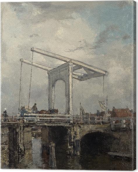 Obraz na płótnie Jacob Maris - Most zwodzony w holenderskim miasteczku - Reproductions