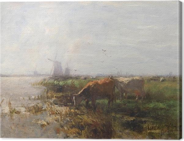 Obraz na płótnie Jacob Maris - Pastwisko - Reproductions