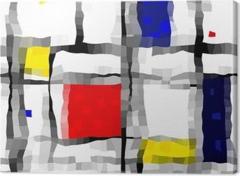 Obraz na płótnie Jak Mondrian