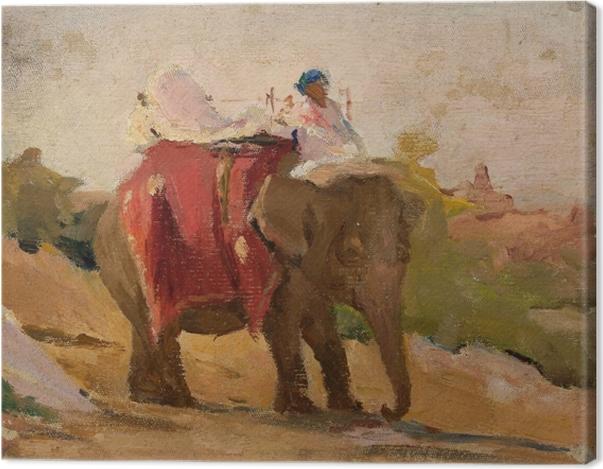 Obraz na płótnie Jan Ciągliński - Chitorgarh - mój słoń. Z podróży do Indii - Reproductions