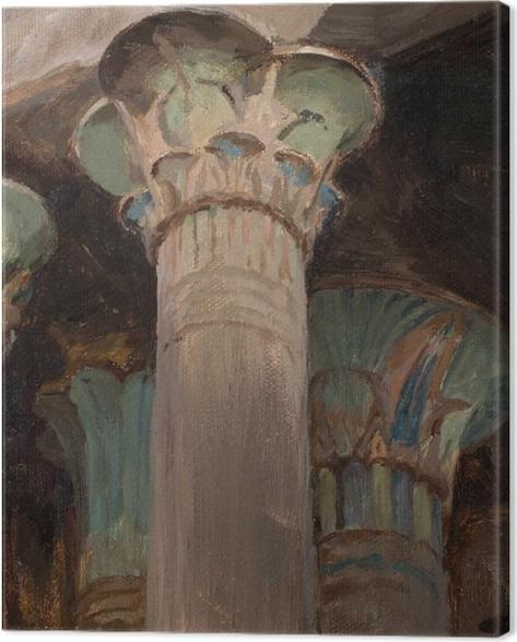 Obraz na płótnie Jan Ciągliński - Kapitele w świątyni Izydy. Z podróży do Grecji - Reproductions