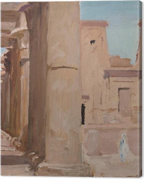 Obraz na płótnie Jan Ciągliński - Świątynia. Z podróży do Egiptu - Reproductions