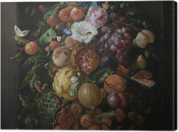 Obraz na płótnie Jan Davidsz - Festoon of Fruit and Flowers - Reprodukcje