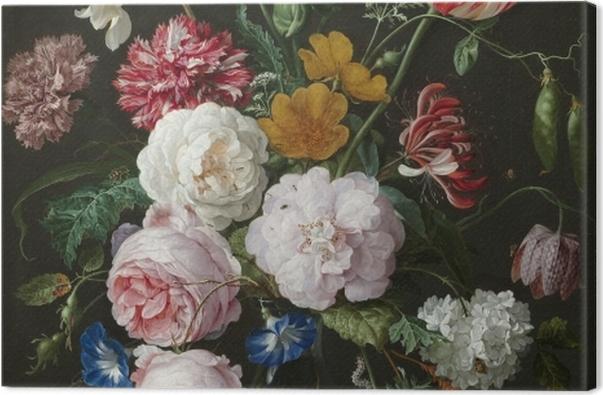 Obraz na płótnie Jan Davidsz - Still Life with Flowers in a Glass Vase - Reprodukcje