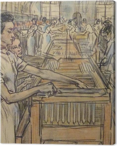 Obraz na płótnie Jan Toorop - Fabryka świec w Gouda, 2 - Reproductions