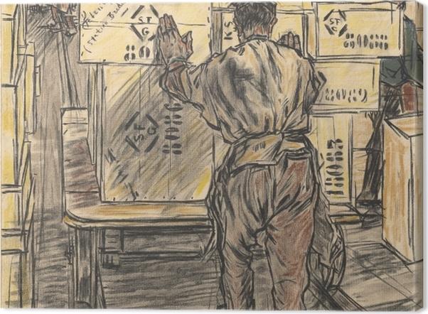 Obraz na płótnie Jan Toorop - Magazyn - Fabryka świec w Gouda, 4 - Reproductions