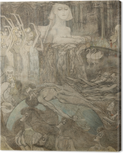 Obraz na płótnie Jan Toorop - Sfinks - Reproductions
