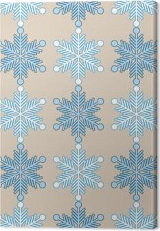 Obraz na płótnie Jednolite tło z płatki śniegu. Wydrukować. Powtarzanie tła. Konstrukcja tkaniny, tapety.