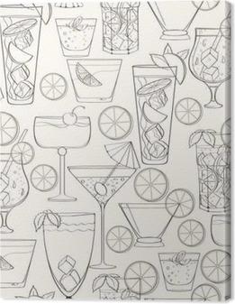 Obraz na płótnie Jednolite wzór cocktail