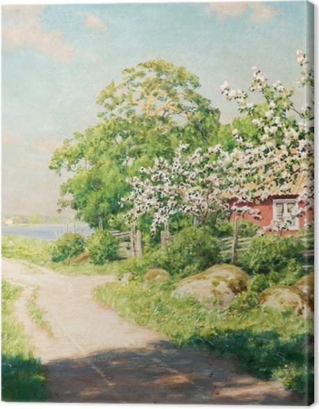 Obraz na płótnie Johan Krouthén - Wiejska droga - Reproductions