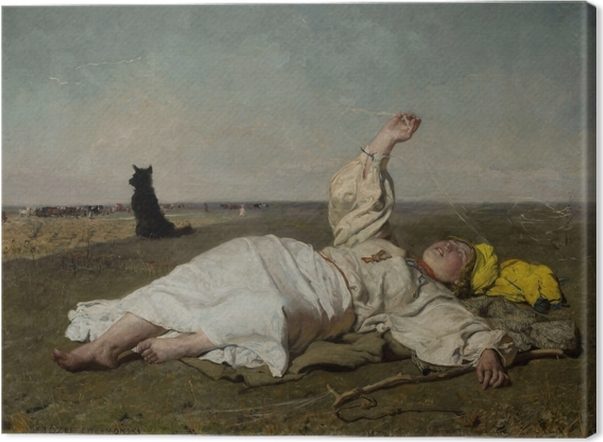 Obraz na płótnie Józef Chełmoński - Bociany (babie lato) - Reproductions