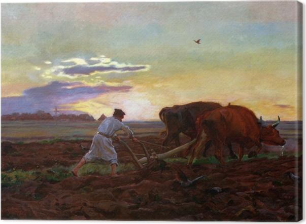 Obraz na płótnie Józef Chełmoński - Orka - Reproductions