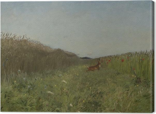 Obraz na płótnie Józef Chełmoński - Zając wśród zboża - Reproductions