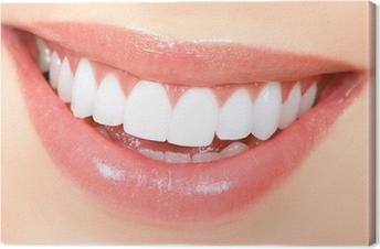 Obraz na płótnie Kobieta zębów