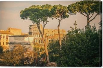 Obraz na płótnie Koloseum o zachodzie słońca