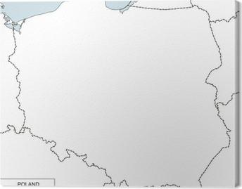 Fototapeta Kontur Mapy Polski Pixers żyjemy By Zmieniać