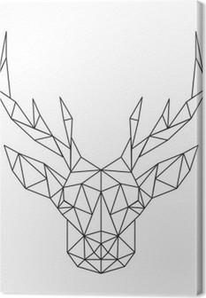 Obraz na płótnie Łamana głowy jelenia. Ikona twórcze sztuki stylizowane