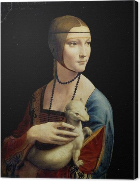 Obraz na płótnie Leonardo da Vinci - Dama z gronostajem - Reprodukcje