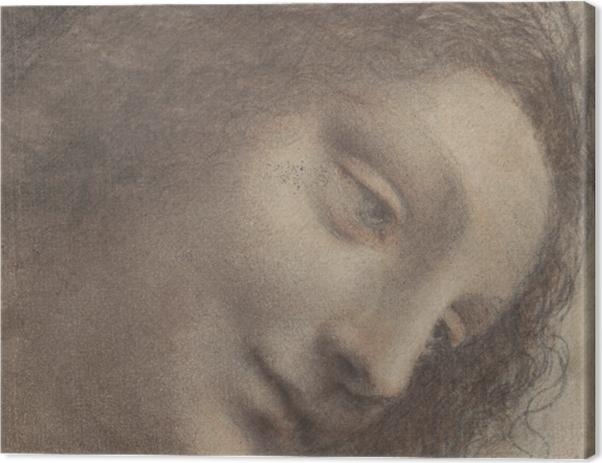 Obraz na płótnie Leonardo da Vinci - Głowa kobiety - Reprodukcje