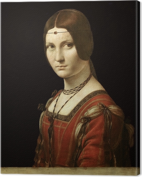 Obraz na płótnie Leonardo da Vinci - La Belle Ferronière - Reprodukcje