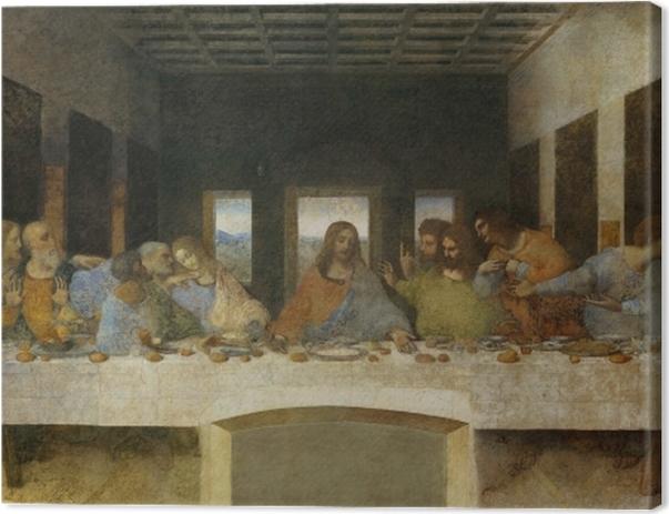 Obraz na płótnie Leonardo da Vinci - Ostatnia Wieczerza - Reprodukcje