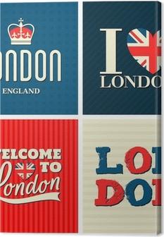 Obraz na płótnie London kolekcji kart