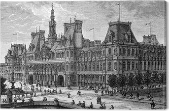 Obraz na płótnie Mairie de Paris - widok: w końcu 19 wieku
