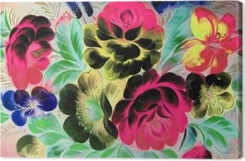 Obraz na płótnie Malarstwo olejne, styl impresjonistyczny, malowanie faktur, kwiat martwa natura obraz malowany kolorem,