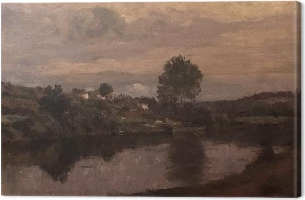 Obraz na płótnie Matthijs Maris - Postać nad jeziorem - Reproductions