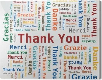 Obraz na płótnie Merci - Dziękuję - Danke - Grazie - Gracias / Nuage de Mots