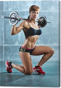 Obraz na płótnie Młoda kobieta sportowe