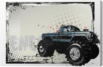 Obraz na płótnie Monster truck poster