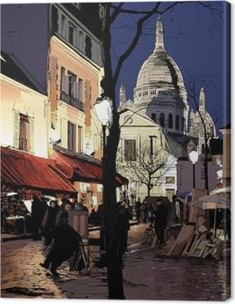 Obraz na płótnie Montmartre w zimie