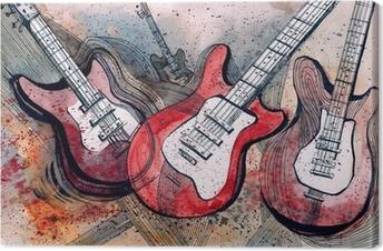 Obraz na płótnie Muzyka gitarowa