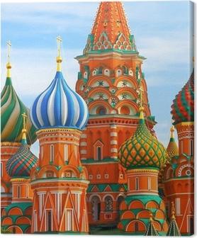 Obraz na płótnie Najbardziej znane miejsce w Moskwie, Sankt Wasyla Błogosławionego, Rosja