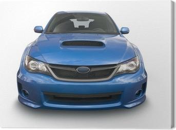 Obraz na płótnie Niebieski sportowy samochód